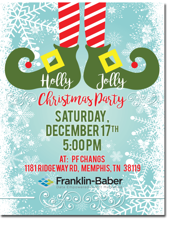 Christmas Party Poster.Franklin Baber Christmas Party Poster